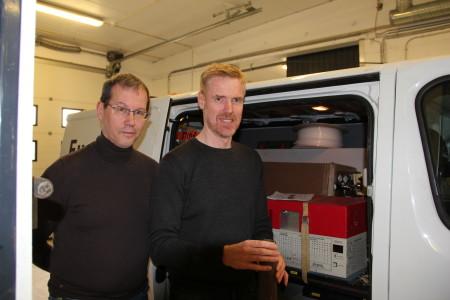 Bjørn Hjortshøj Andersen og Palle Ejlskov arbejdet på at udvikle en sonde, som kan måle redoxpotentialet i jorden.